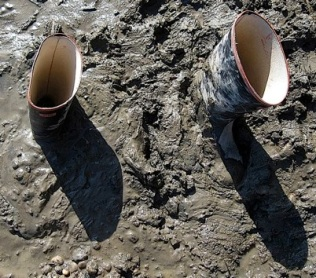 Image result for boots stuck in mud