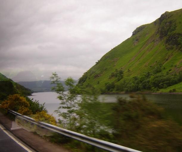 Rainy highway, northerneast Scotland