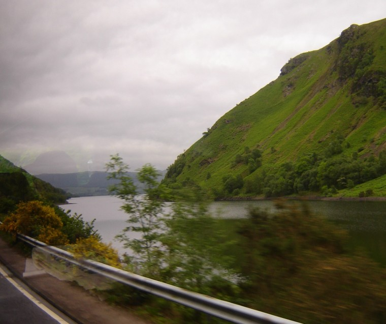 Rainy highway, northerneast Scotland