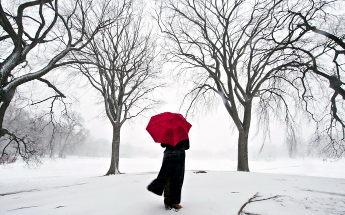 Winter-Red-Umbrella-690x431
